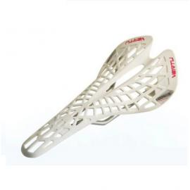 Седло для велосипеда DDK 2644 Aloe Comfort System (Черный-белый)