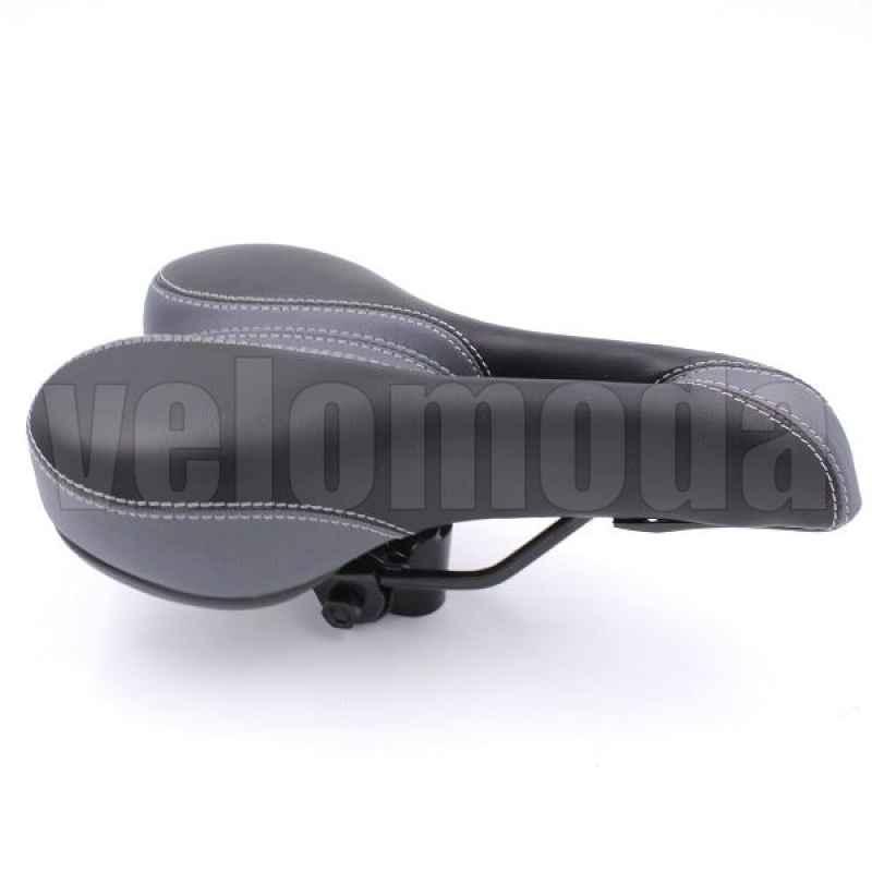 Седло для велосипеда Haiwey 140058 с замком (Черный-серый)
