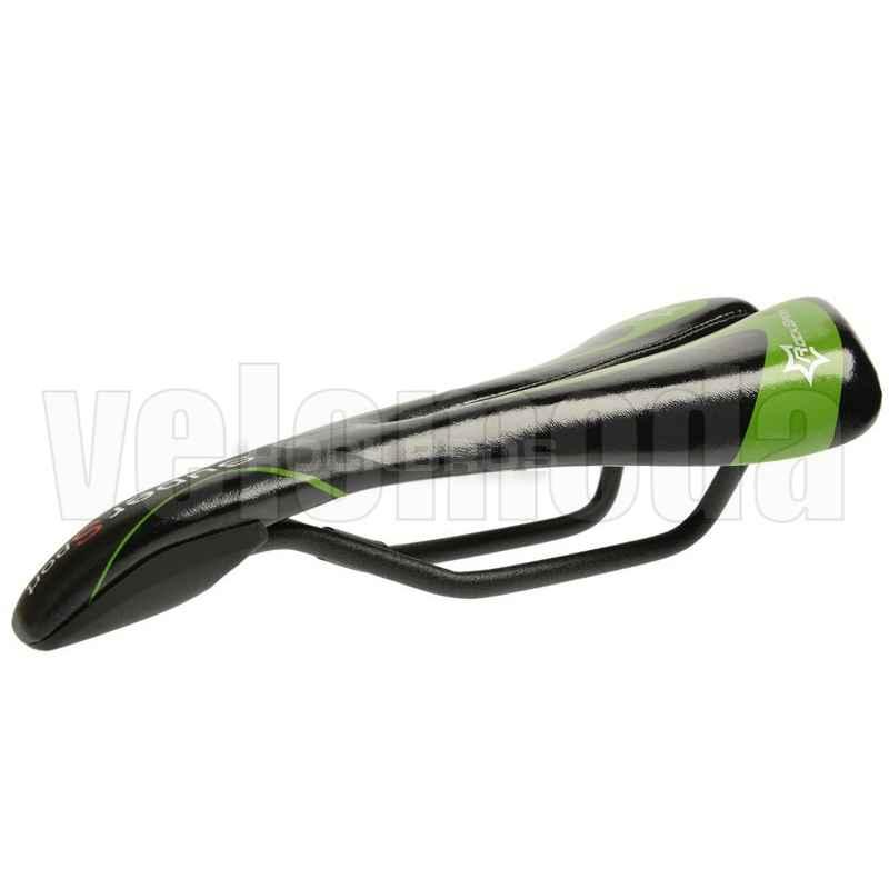 Седло для велосипеда Rockbros RB-1658 спортивное (Черный-зеленый)