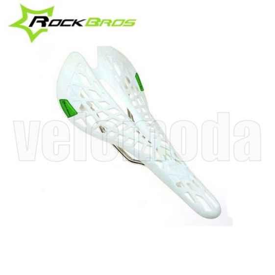 """Седло для велосипеда Rockbros ZZZDX спортивное """"Паутина"""" (Белое)"""