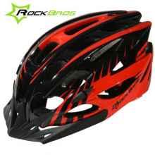 Велошлем Rockbros WT-027 (Черный с красным)