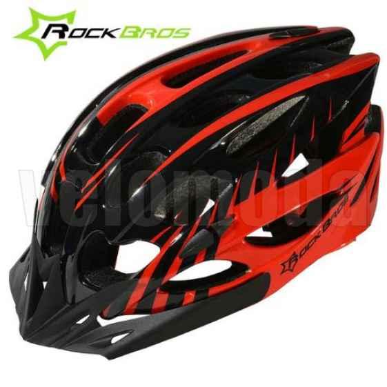 Велошлем Rockbros WT-037 (Черный с красным)