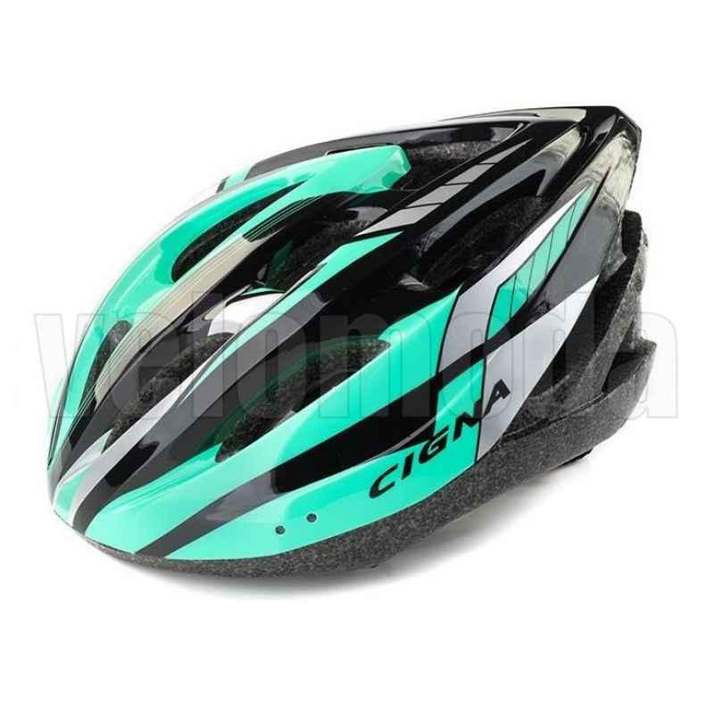 Велошлем Cigna WT-040 (Зеленый-черный)