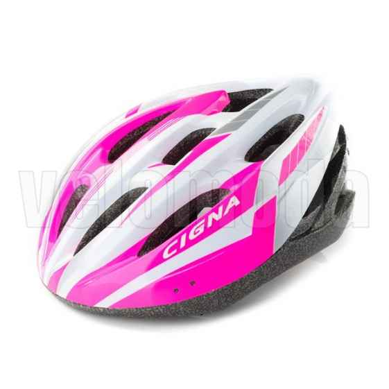 Велошлем Cigna WT-040 (Белый-розовый)