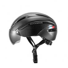 Велошлем с визором Rockbros WT-018S-BK (Чёрный)