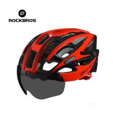 Велошлем с визором Rockbros WT027-S-BR (Чёрно-красный)