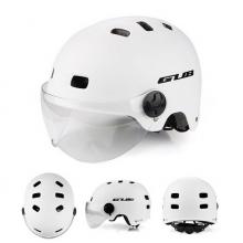 Велошлем GUB TS-6 матовый с визором (Белый)