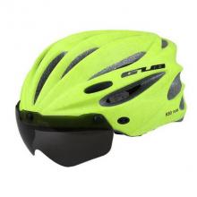 Велошлем GUB K80 Plus с визором (Салатовый)