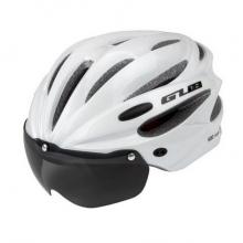 Велошлем GUB K80 Plus с визором (Белый)