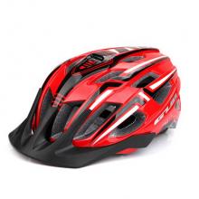 Велошлем GUB A2 с габаритом (Красно-чёрный)