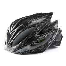 Велошлем Sahoo Matt Blace (матовый черный с серым)