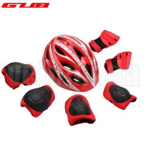 Комплект детский: шлем + защита суставов GUB Star (Красный)