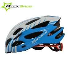 Велошлем Rockbros WT-027 (Белый с синим)