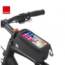 Велосумка на раму Sahoo 121460-SA для телефона до 6 дюймов (Серая)