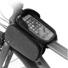 Велосумка с держателем для телефона на раму Sahoo 122007 двойная до 6.0 дюймов (Серая)