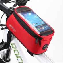 Велосумка с держателем для телефона на раму Roswheel (красная)