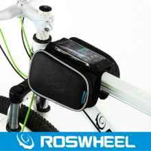 Велосумка с держателем для телефона на раму Roswheel двойная до 4.7 дюймов (черная)