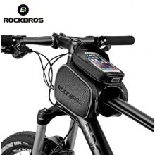 Велосумка с отделением для телефона на раму RockBros RB-009  двойная до 5.8 дюймов (Черный)