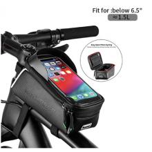 Велосумка с держателем для телефона на раму RockBros RB-017-3BK (черный карбон)
