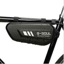 Велосумка под раму B-Soul Bike Bag водонепроницаемая (Чёрный карбон)
