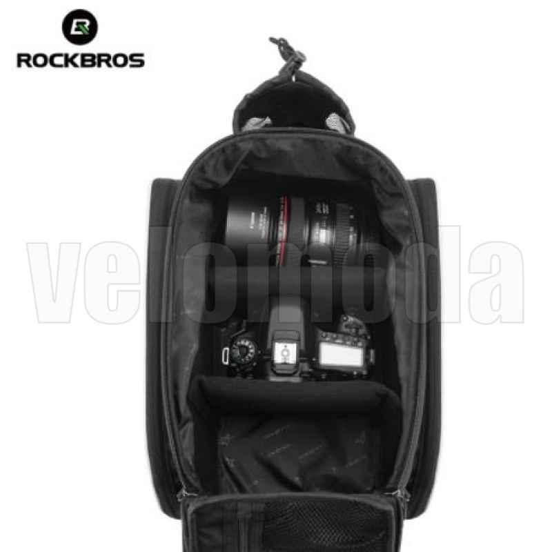 Велосумка на багажник RoсkBros A7 (черная)