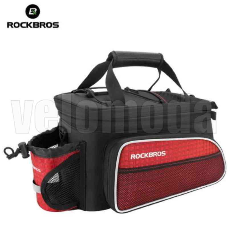 Велосумка на багажник RoсkBros A7 (красная)