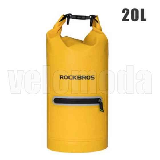 Сумка водонепроницаемая Rockbros AS-024 20л (Желтая)
