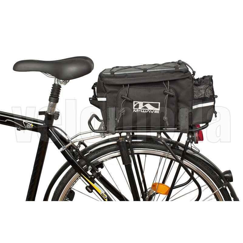 Велосумка на багажник M-Wave Amsterdam-EXP трансформер 16л Германия (черный)