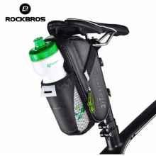 Велосумка под седло RockBros C7-1 с отделением для фляги (черный карбон)