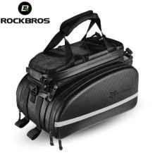 Велосумка на багажник RoсkBros A6 10-35л (Карбон)