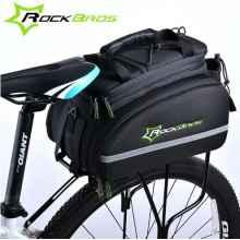 Велосумка на багажник RoсkBros A6 10-35л (Черная)