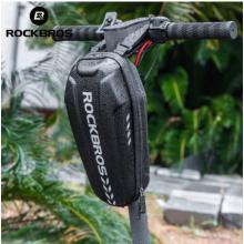 Сумка-кофр на руль электросамоката/велосипеда RockBros B62-1 (черный-карбон)