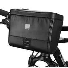 Сумка на руль велосипеда Sahoo 112049 2L водонепроницаемая с держателем для телефона (Чёрная)