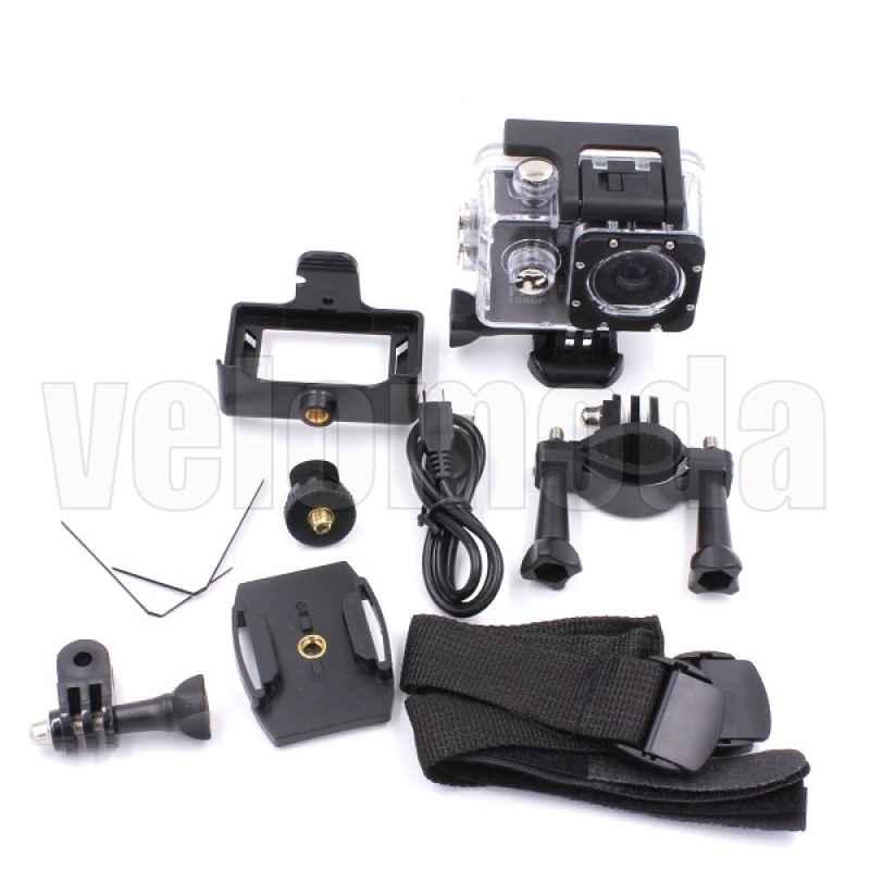 Экшен камера 1080p + 30 метров влагозащита с комплектом