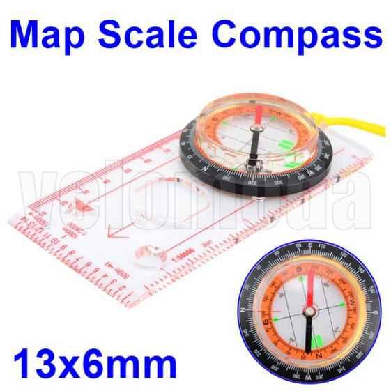 Картографический компас с линейкой