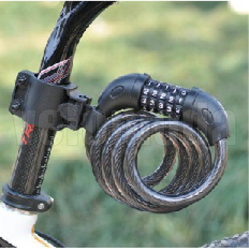 Замок для велосипеда Tonyon Lock King тросовый, кодовый
