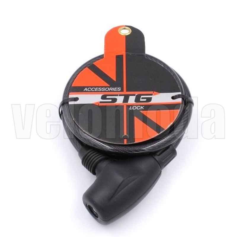 Велозамок STG X66510 тросовый 12*120см автоматический