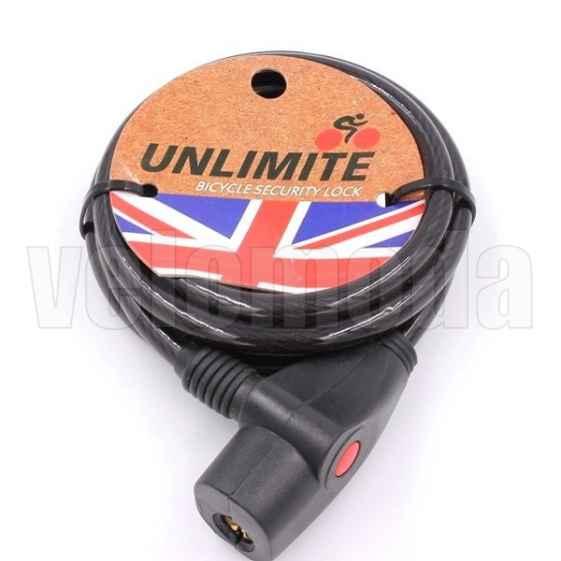 Велозамок Unlimite 102.106 автоматический 8*1800mm