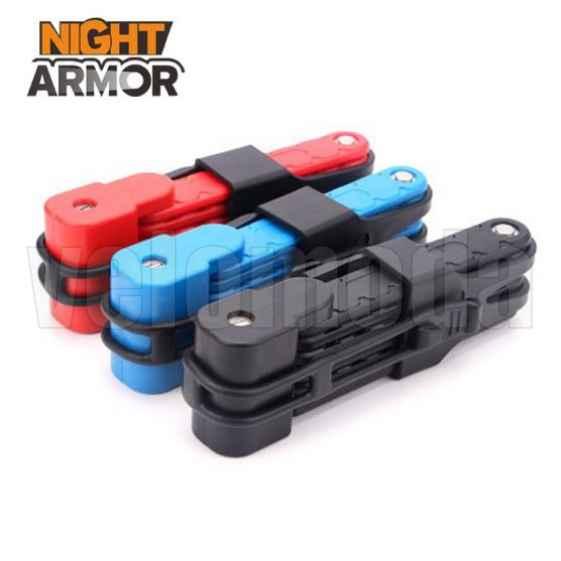 Замок для велосипеда стальной Night Armor TY3853 Compact (Черный)