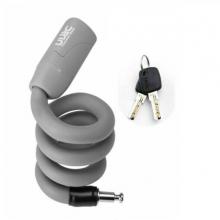 Велозамок с ключом гибкий RockBros Ulac Y10MBK (Серый)
