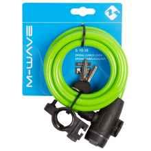 Велозамок M-Wave 233865 10*1800 мм (Салатовый)