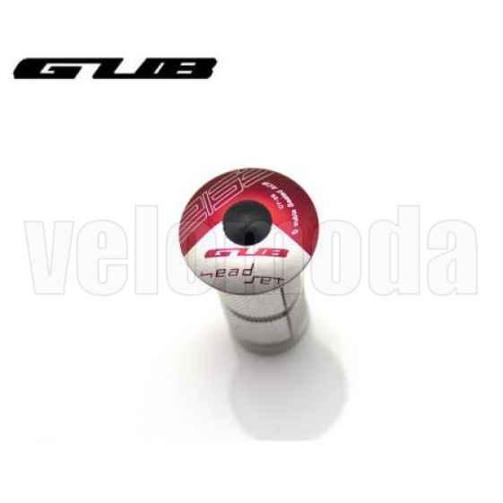 Крышка рулевой колонки (выноса) GUB CT-28 с болтом и якорем (красный)