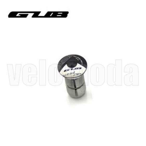 Крышка рулевой колонки (выноса) GUB CT-28 с болтом и якорем (черный)