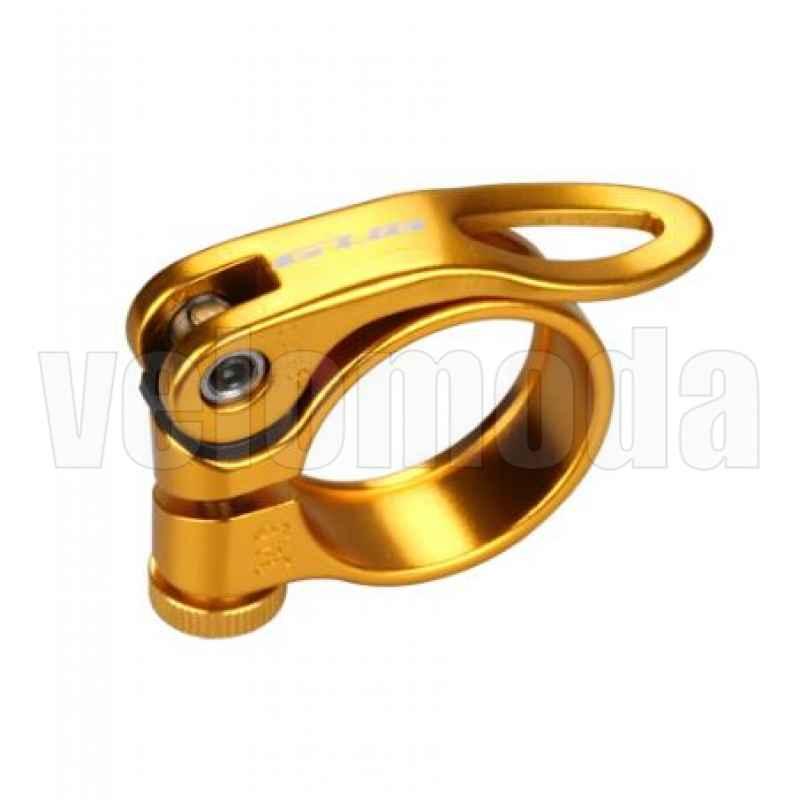 Подседельный хомут, зажим GUB CX-49 34.9mm (золото)