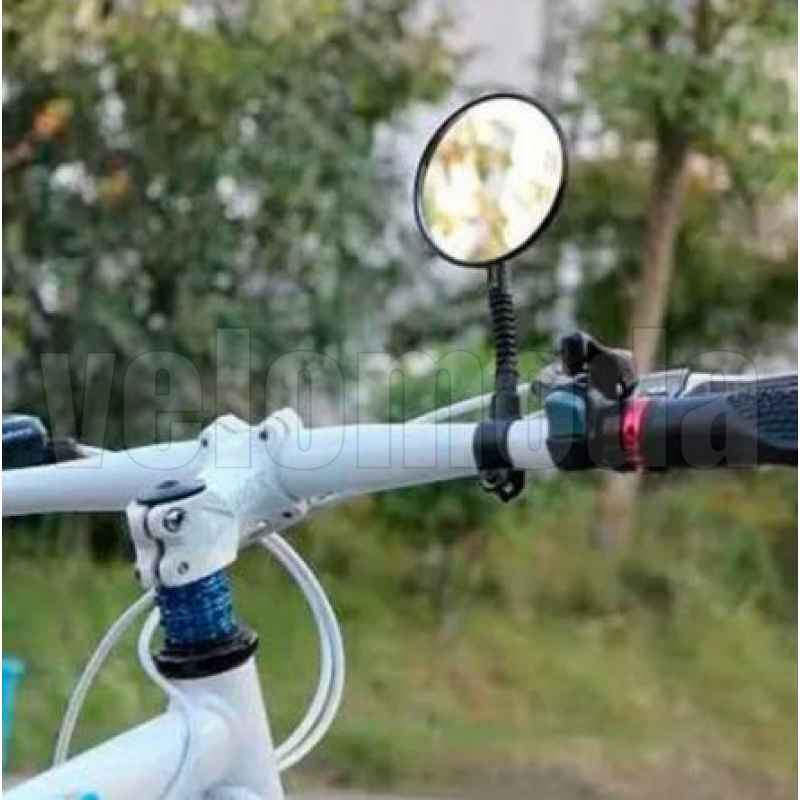 Зеркало для велосипеда KS-113 выпуклое на гибкой ножке