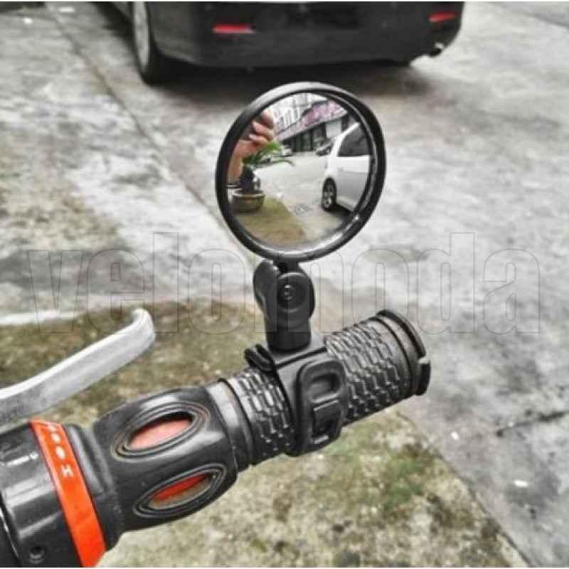 Зеркало для велосипеда STG BC-M103 изогнутое, крепление на резинке