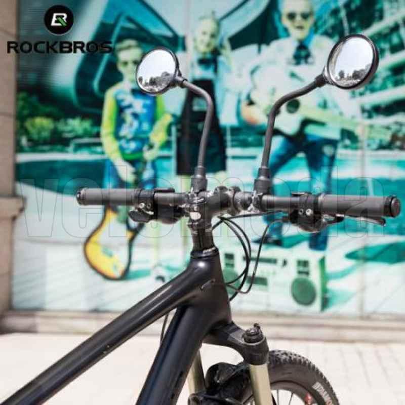Зеркало для велосипеда RockBros FK-419 выпуклое на гибкой ножке (1 шт)