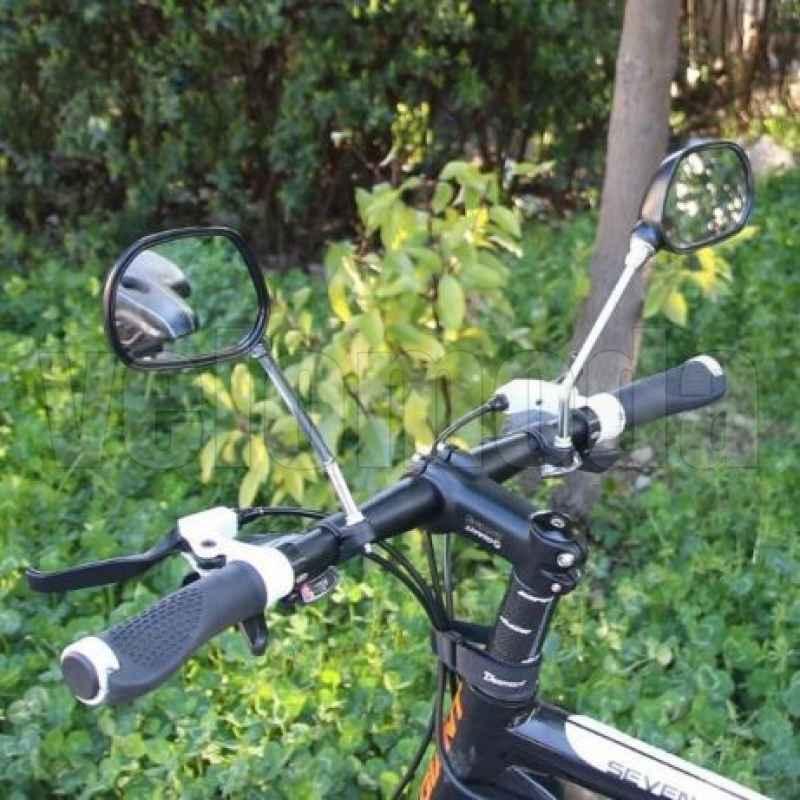 Комплект зеркал JY-102 (пара) на руль, с катофотом, 110*70 мм