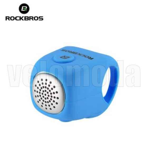 Велозвонок электрический Rockbros CB1709 3 мелодии (голубой)