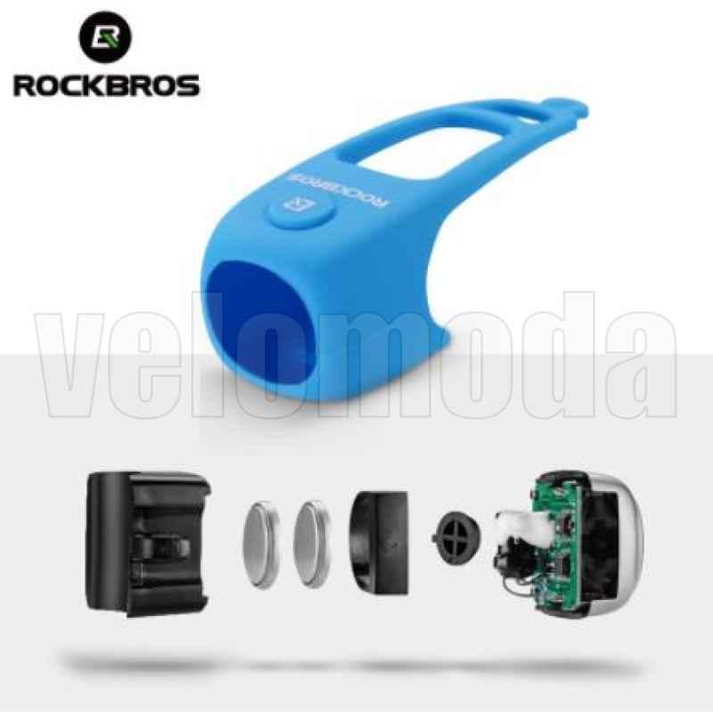 Велозвонок электрический Rockbros CB1709 3 мелодии (красный)